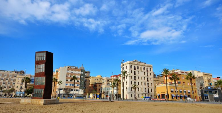 51412046 - barcelona, spain - january 21: panoramic view of barceloneta quarter, barcelona on january 21, 2015. barcelona is the capital city of catalonia, spain.