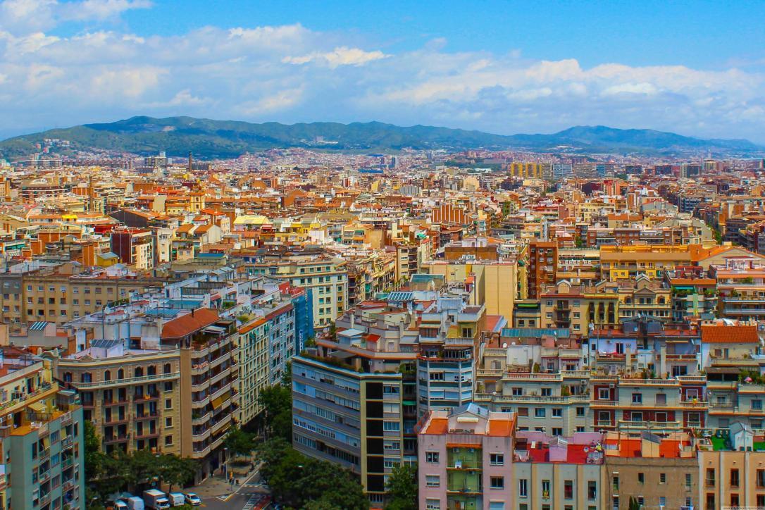 Beautiful city building of Barcelona city