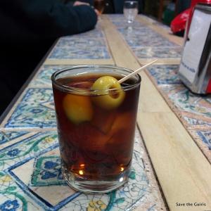 Un typique verre de vermouth